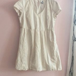 Old navy cream and tan dress
